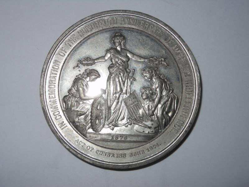 19: 1876 U.S. CENTENNIAL MEDAL