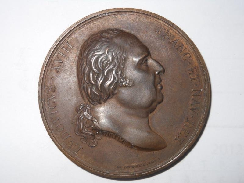 21: LOUIS XVIII, 1815 MEDAL (PARIS)