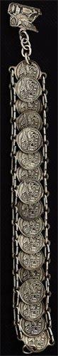 11: St. Mark's square silver coin bracelet