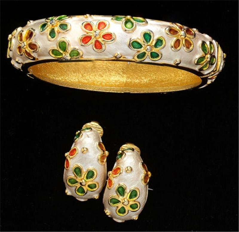 13: Bangle bracelet and Earrings