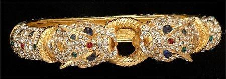 14: Ciner vintage panther bangle bracelet