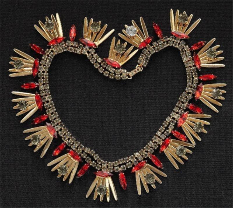 21: Red rhinestone necklace
