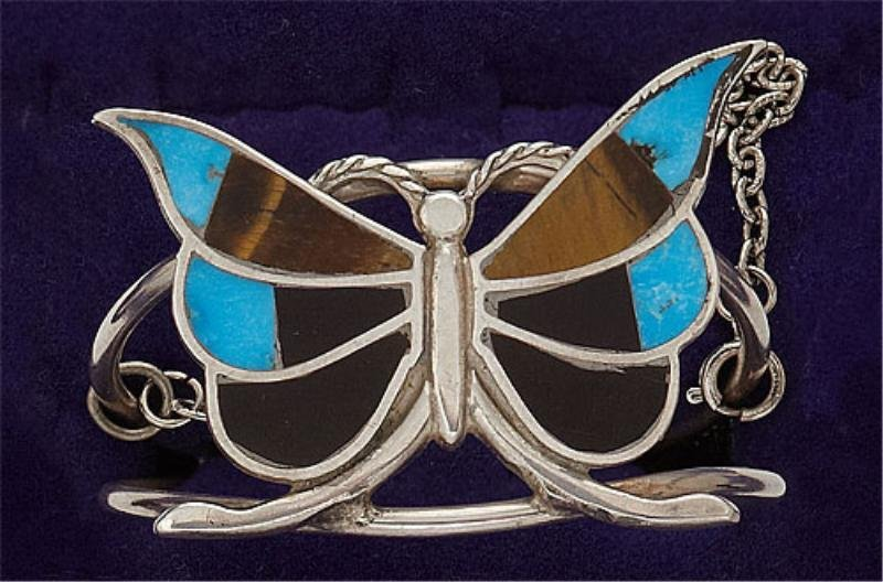 41: Silver Butterfly Design Cuff