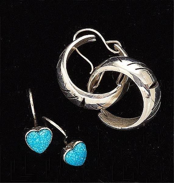 73: Two Pair Sterling Silver Earrings