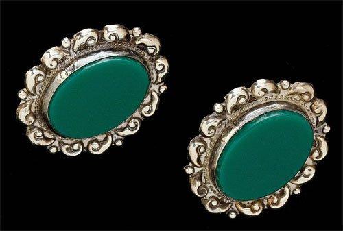 75: Mexican silver earrings Platerea
