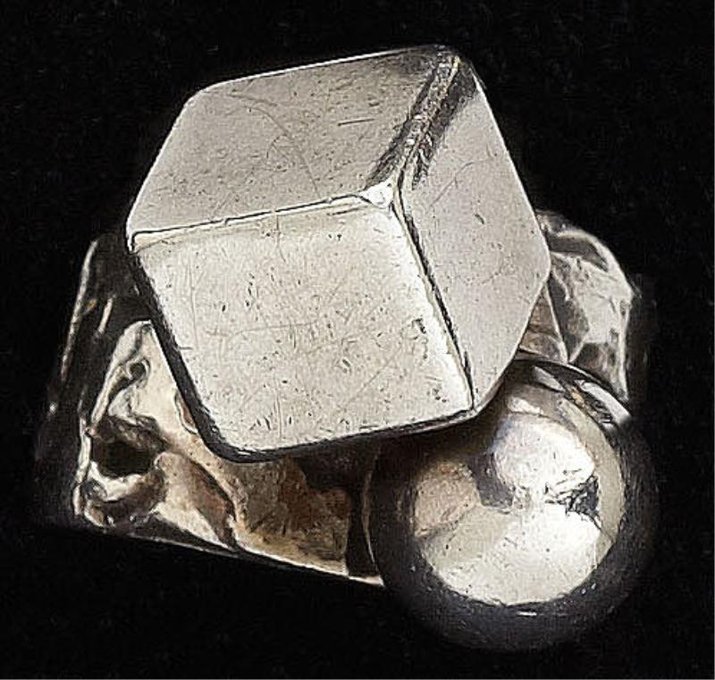 96: Contemporary Silver Ring