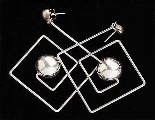 105: Sterling silver earrings