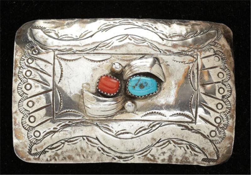 108: Navajo belt buckle