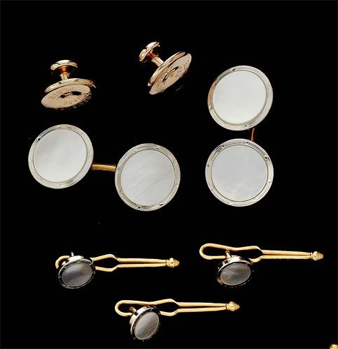 114: Mother of pearl dress set