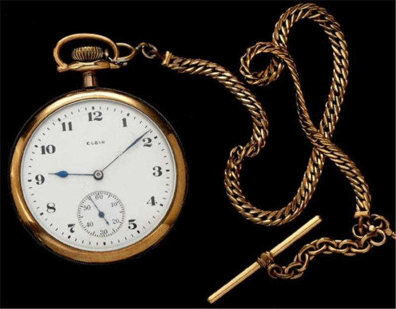 120: Pocket Watch with chain and fob, Elgin