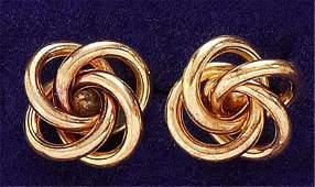 165: Gold knot earrings