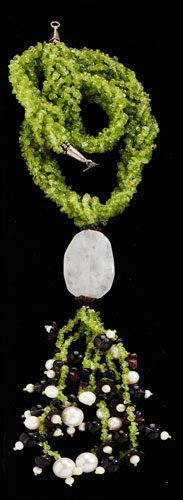 291: Peridot amethyst and pearl necklace