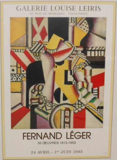 73: FERNAND LEGER EXHIBITION POSTER