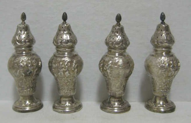 376: DUTCH STYLE SILVER SHAKERS
