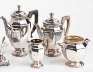 382: CHRISTOFLE, FRANCE, PLATED SILVER TEA/COFFEE SET