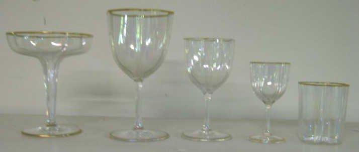 13: LOBMEYR/MOSER IRIDESCENT GLASS STEMWARE