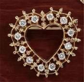 745 DIAMOND HEART PENDANT BROOCH