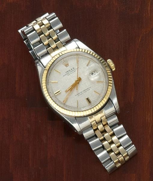 1066: MAN'S TWO TONE ROLEX