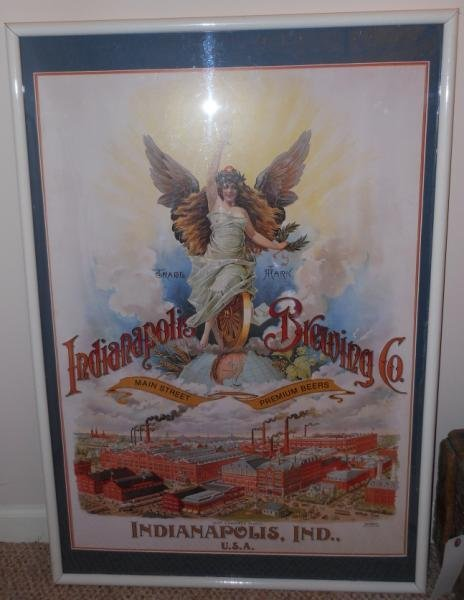 """INDIANAPOLIS BREWING CO."" REPRODUCTION POSTER"