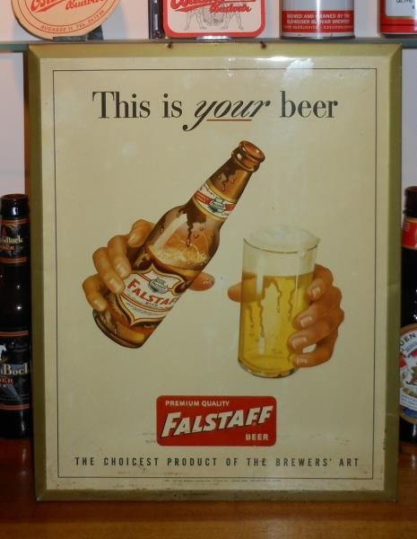 FALSTAFF METAL SIGN