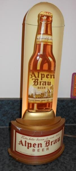 ALPEN BRAU HALO BULLET BEER SIGN