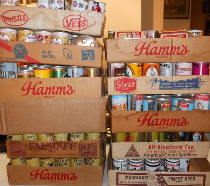LARGE COLLECTION OF ASSORTED BEER CANS