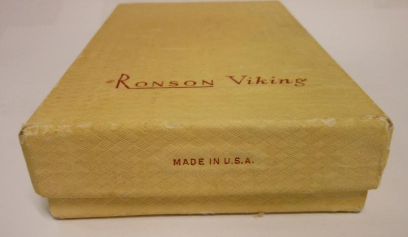 RONSON VIKING LIGHTER IN ORIGINAL BOX - 10