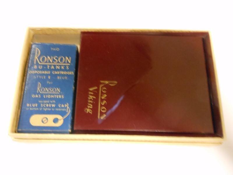 RONSON VIKING LIGHTER IN ORIGINAL BOX - 2