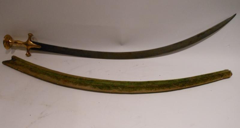 GOLD KOFTGARI HILTED INDIAN TULWAR SHAMSIR