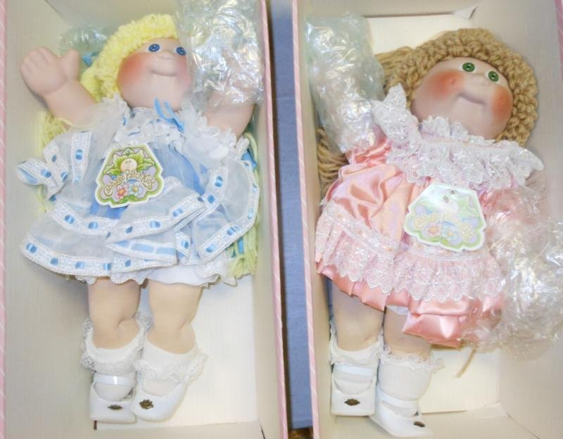 """TWO 16"""" CABBAGE PATCH KIDS PORCELAIN DOLLS"""