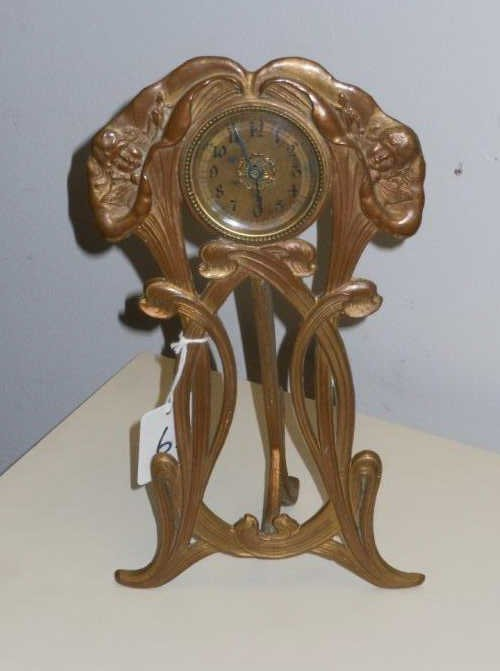 ART NOUVEAU DESK CLOCK