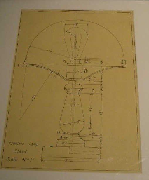 """ELECTRIC LAMP STAND, SCALE DRAWING 3/4"""" = 1"""""""