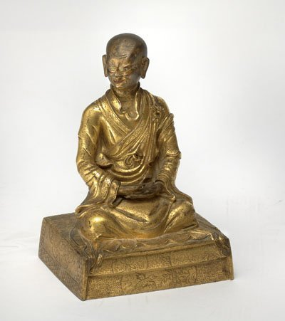 FINE CHINESE BUDDHIST GILT-BRONZE FIGURE