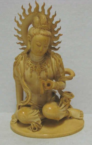 CARVED IVORY BODHISATTVA GUANYIN