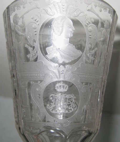 BOHEMIAN GLASS CEREMONIAL GOBLET