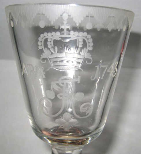 GERMAN GLASS CEREMONIAL GOBLET
