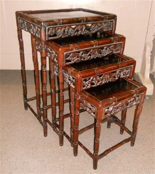 Nest of four antique chinese nesting tables watchthetrailerfo