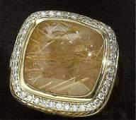 RUTILATED QUARTZ AND DIAMOND RING, DAVID YURMAN