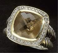 CITRINE AND DIAMOND RING, DAVID YURMAN