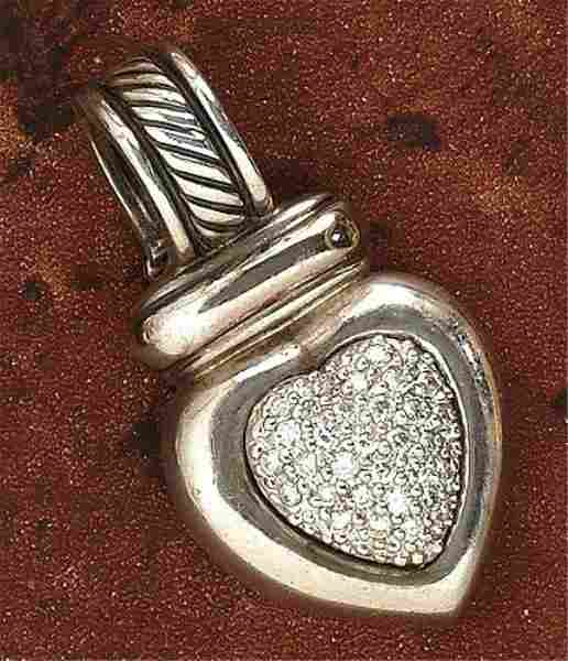DIAMOND HEART PENDANT, DAVID YURMAN