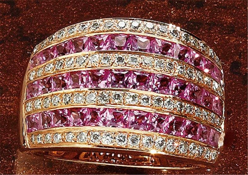 PINK SAPPHIRE AND DIAMOND RING LEVIAN