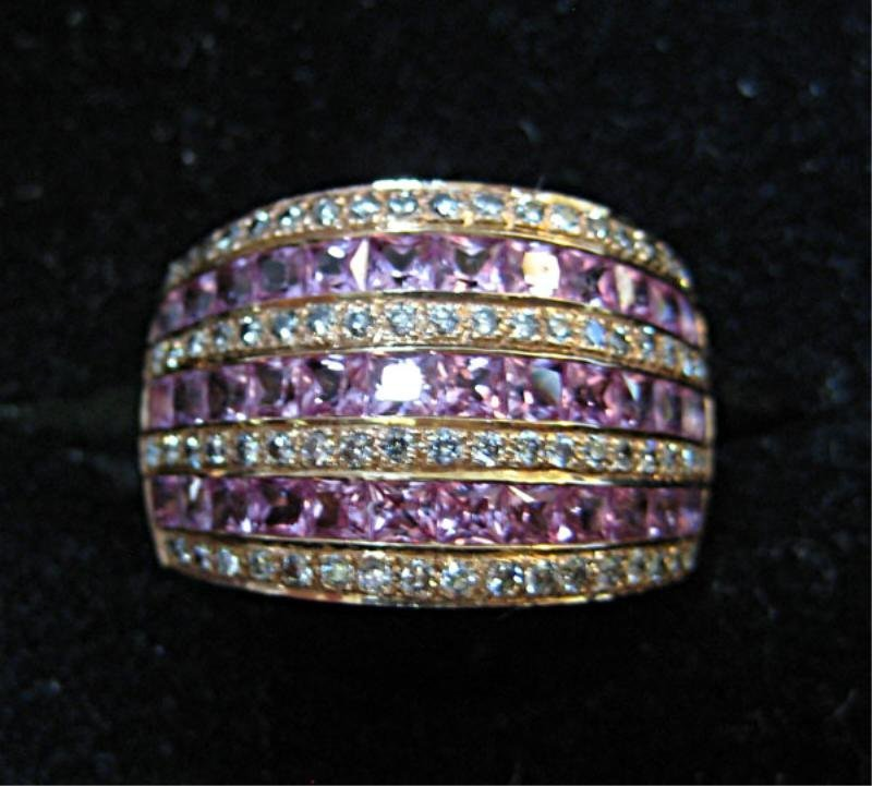PINK SAPPHIRE AND DIAMOND RING LEVIAN - 2
