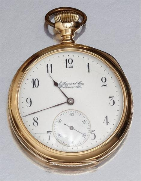 GOLD POCKET WATCH, E. JACCARD CO.