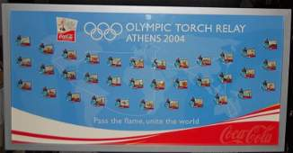 COCACOLA OLYMPIC TORCH RELAY PIN SET