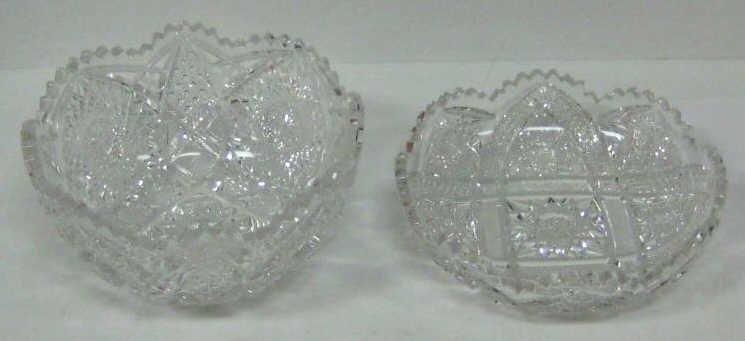 TWO BRILLIANT CUT GLASS BOWLS