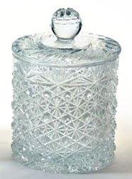 BRILLIANT CUT GLASS COOKIE JAR