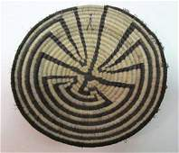 PAPAGO INDIAN COILED HORSEHAIR BASKET