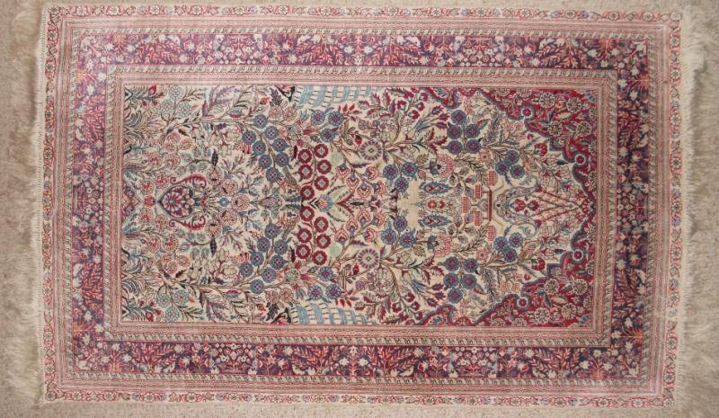 CHINESE SILK DIRECTIONAL THROW RUG