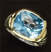 BLUE TOPAZ RING, DAVID YURMAN