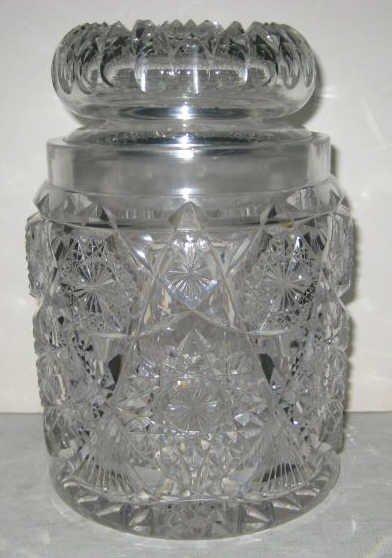 BRILLIANT CUT GLASS COOKIE JAR / HUMIDOR